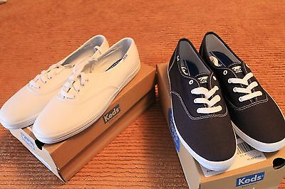 Women's Keds size 9.5 lot of 2 pair NWB  NAVY and WHITE