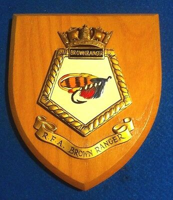 Rfa Brown Ranger A169 Royal Navy Fleet Tanker Wall Plaque Excellent Condition