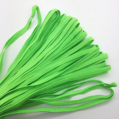 """5yds 1/4"""" 6mm Thickening Satin Elastic Band Trim Sewing Spandex Lace Green #G06"""