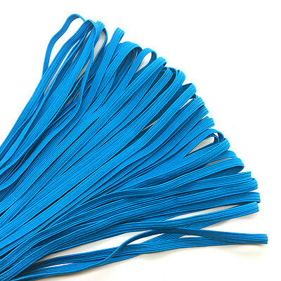 """5yds 1/4"""" 6mm Lake blue Thickening Satin Elastic Band Trim Sewing Spandex Lace"""