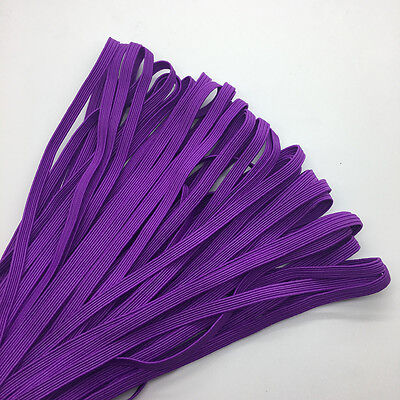 """5yds 1/4"""" 6mm Purple Thickening Satin Elastic Band Trim Sewing Spandex Lace"""