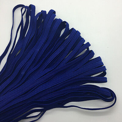 """5yds 1/4"""" 6mm Deep blue Thickening Satin Elastic Band Trim Sewing Spandex Lace"""