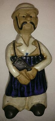 Vintage Tremar Pottery Cornwall Butcher Figure hand made and glazed