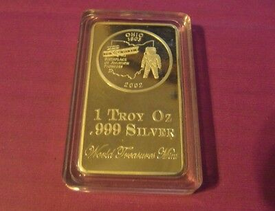 One 1 Troy Oz Silver Clad/plated Ohio Man On The Moon