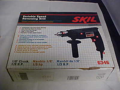 Skil Drill Variable Speed Reversing 3.2 Amp 1/2 Chuck 1/3 HP # 6346 Made in USA