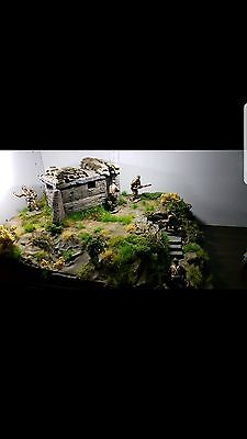 King and Country Diorama Rare Custom Made with 5 Retired Figures