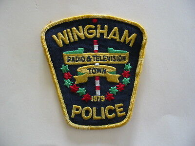 Original Old Style Wingham Police, Patch, Ontario, Canada