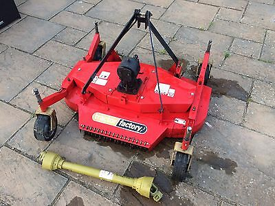 4ft Finishing mower for compact tractor with PTO, small holding