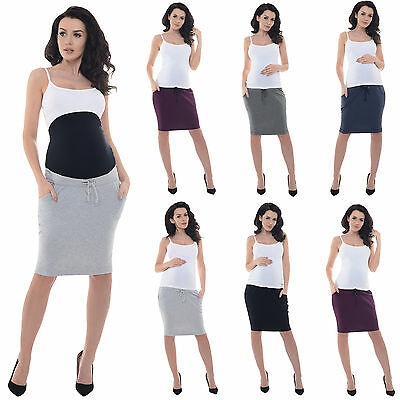 Purpless Maternity, Pregnancy Elasticated OverUnder Belly Band Skirt Skirts 1500