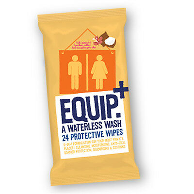 Pk 24 Waterless Wash Protective Wipes for Camping, Festivals, Backpacking(B-105)