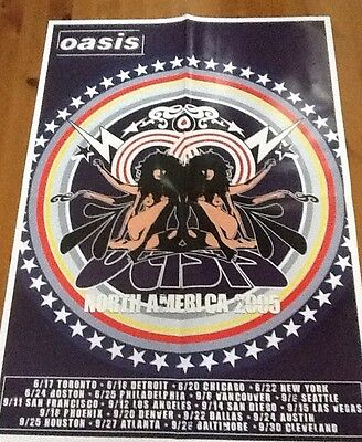 Oasis tour poster 2005 North America