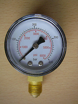Replacement 0-400Bar Gauge To Fit High Pressure Gas Regulators