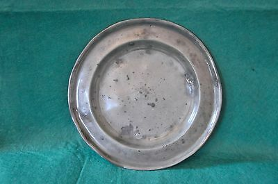 ANTIQUE PEWTER PLATE - Buxton & Russell, Sheffield