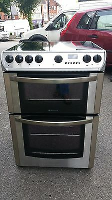 HOTPOINT EW76X 60cm CERAMIC ELECTRIC COOKER-STAINLESS STEEL