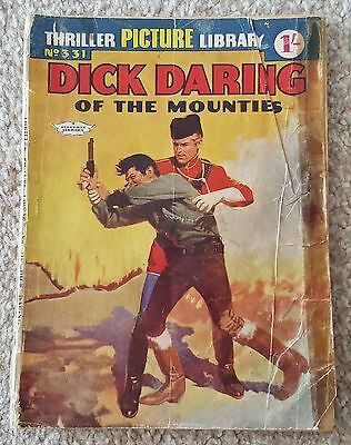 Dick Daring of the Mounties No 331 Thriller picture library 1961