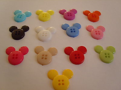 Plastic Novelty - Mickey Mouse Ears - 20mm - 10 Buttons - Buy 3 get 1 free
