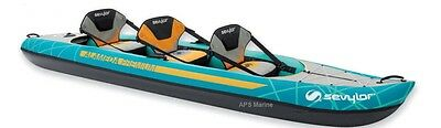Sevylor Alameda  Or Alameda Premium Inflatable Kayak 2 + 1 person canoe