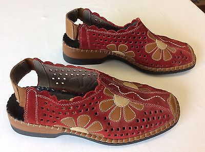 Rieker Antistress Red And Brown Shoes Size Uk 4 Eu 37