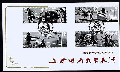 GB 2015 Cotswold  Rugby World Cup 2015  FDC Unaddressed