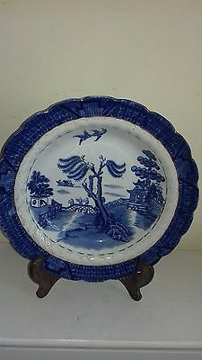 Antique Booths 'Real Old Willow' pattern soup bowl