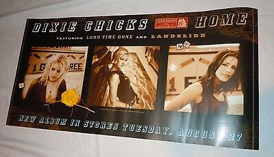 DIXIE CHICKS~Home~Original Promo Poster~2002~12x24~Double Sided~NM Condition