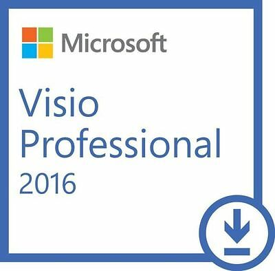 Microsoft Visio Professional 2016 KEY & DOWNLOAD *emailed within 10mins*
