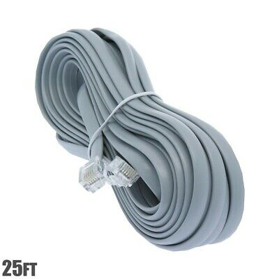 *NEW* 25ft TELEPHONE PHONE LINE WIRE  CABLE 4 WIRE CONDUCTOR GRAY RV 8101-64125