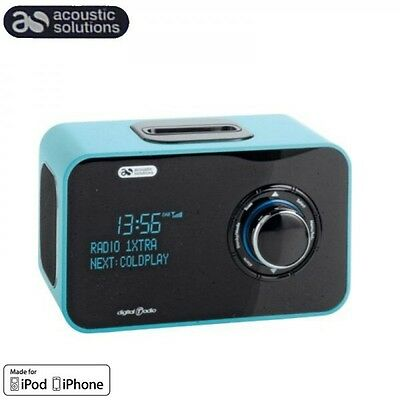 Portable Dab Radio Fm/dab With Docking Station Iphone Ipod High Gloss Finish Aux