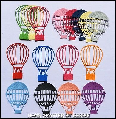 Hot Air Balloons  Die Cuts X 20,boys,card Making,embellishments,transport,girls