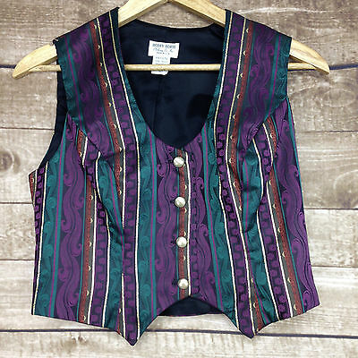 Hobby Horse Show Clothing Western Vest Gold Green Purple Ladies Size Petite