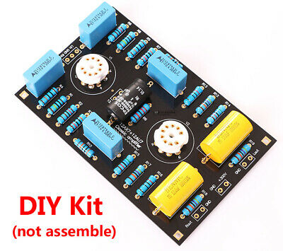 Low Noise Stereo Tube Preamplifier Preamp Board DIY Kit for 12AX7 / 21AU7 Tube