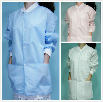 20 Knee Length White SMS Three-Layer Disposable Lab Coats Gowns Dental Medical