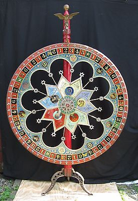 Antique H C Evans Gambling Game Wheel of Chance Western Theme Shipping Available