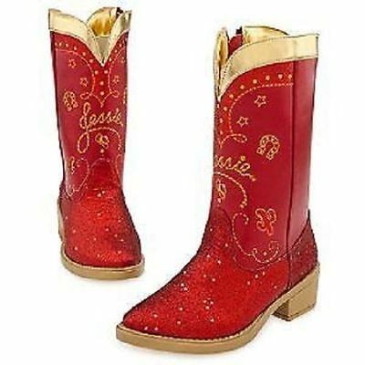 Disney Toy Story Jessie Cowgirl Red Glitter Costume Boots 9/10 9 10