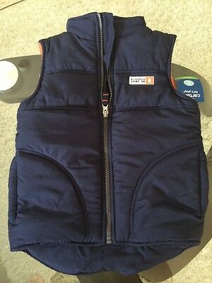 Carter's Kid's Puffy Vest - Navy Blue Sz 5 NWT