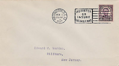 Worden First Day Cover #635 Lincoln 3c  2/3/1927