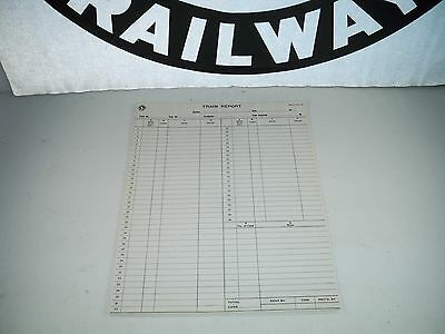 1944 Set of 10 UNUSED Great Northern Railway Train Report Forms