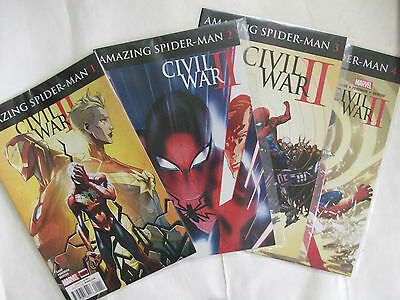 Amazing Spider-Man Civil war 2    Complete Set Issues #1 #2 #3 #4 Marvel Comics