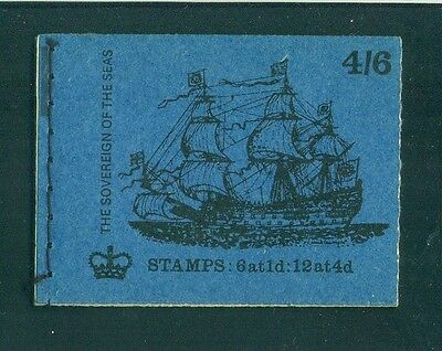 Great Britain 4s6d Sovereign of the Seas Ship October 1970 Booklet LP59