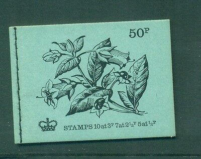 Great Britain 50p Common Violet Flowers FEB 1972  DT5