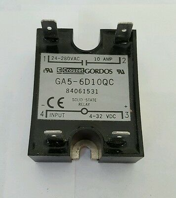 new GORDOS CROUZET GA5 6D10QC SOLID STATE RELAY 24-280VDC 10A PART# 84061531
