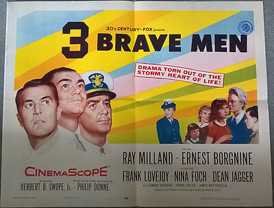 3 Brave men original US half sheet poster