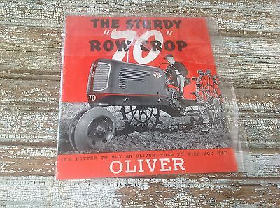 "1940 The Sturdy ""70"" Row Crop Oliver Tractor Sales Brochure"