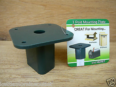 Songbird Essentials T Post Mounting Plate for Bird Feeders Bird Houses SE6014