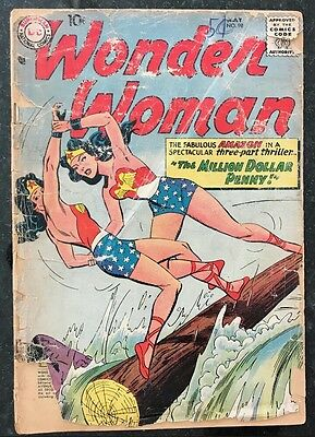 Wonder Woman #98 May 1958 10 cents New Origin