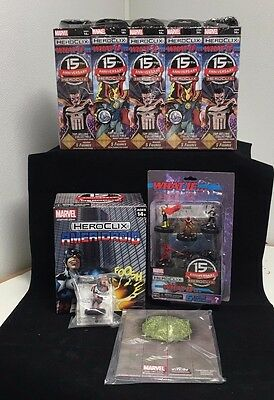 Heroclix 15th Anniversary What If Booster Brick+OP KIT+ Starter Set+Ameridroid