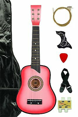 Pink Acoustic Toy Guitar for Kids with Carrying Bag and Accessories & Directl...