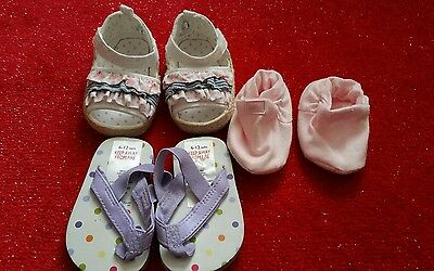 Baby shoes x3   0-12 months