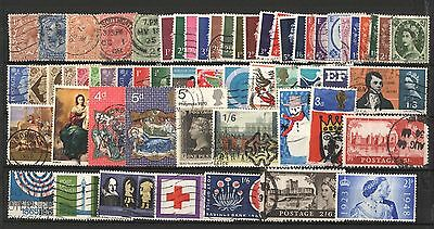 Useful Collection Of 60 Used Great Britain Stamps * No Duplicates! *