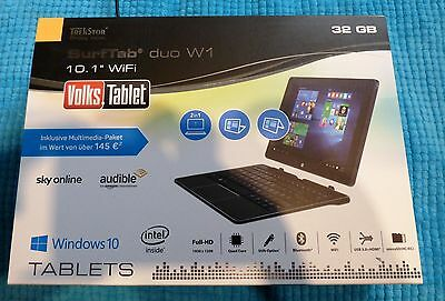 TrekStor SurfTab duo W1 schwarz 10,1 Zoll Wlan - Windows 10 Tablet PC